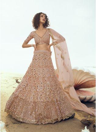 Shop Elegant Soft Net Base Sequin And Resham Work Lehenga Choli