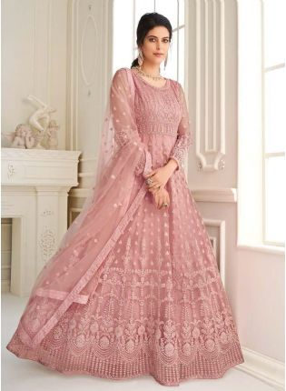 Adorable Pink Color Gown With Floor Length Anarkali