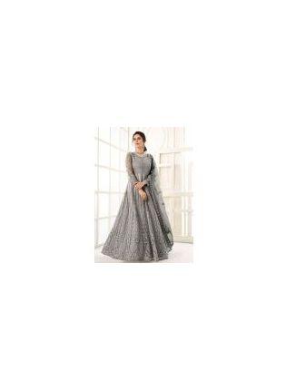 Ravishing Grey Color Gown With Floor Length Anarkali