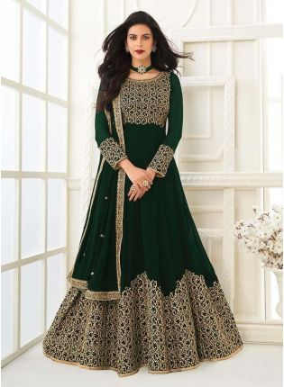 Exquisite Green Color Georgette Base Gown