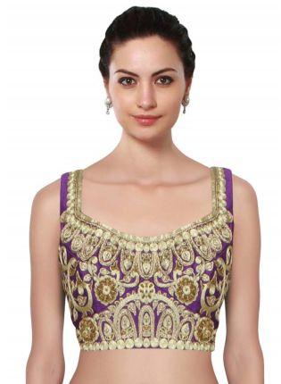 Buy Purple Ornamental Jaal Pattern Blouse