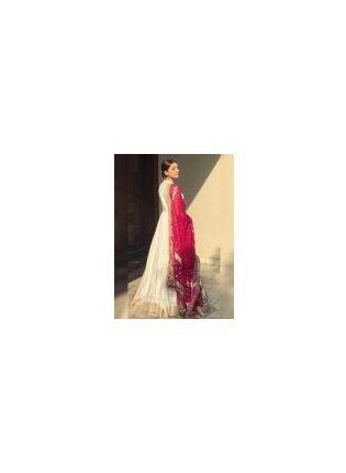 Buy White Zari Work Resham And Art Silk Party Wear Elegant Gown