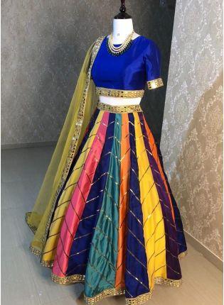 Best Multi Color Digital Print Flared Panelled Lehenga Choli