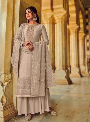 Delightful Purple Color With Beautiful Embroidery Work Salwar Kameez