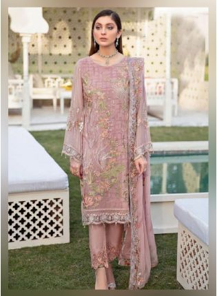 Admirable Pink color With Georgette Base Pakistani Suit