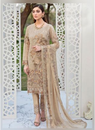 Sweet Cream Color With Georgette Base Pakistani Suit