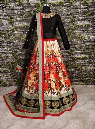 Splendid Anushka Sharma In Floral Motif Lehenga With Black Choli