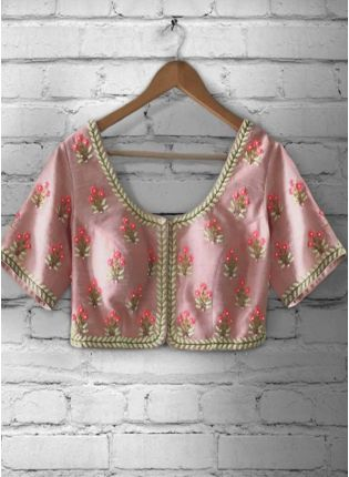 Buy Baby Pink Color Emboidered Worked Blouse