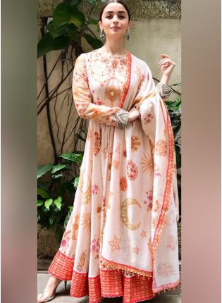 Stylish Party Wear Designer Digital Printed Salwar Kameez Suit