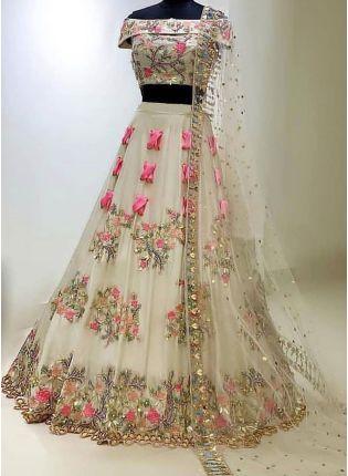Buy White Color Party Wear Designer Wedding Wear Lehenga Choli