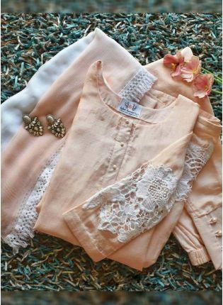 Best Elegant Baby Purple Color Party Wear Cotton Silk Base Salwar Kameez Suit