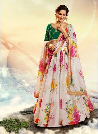 GIRL IN Dream-like Multicolored Flared Lehenga Choli Set