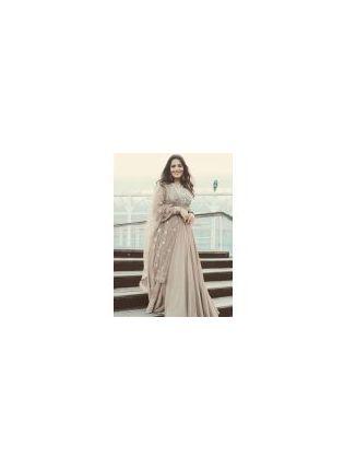 Best Designer Beige Color Online Buy Party Wear Gown