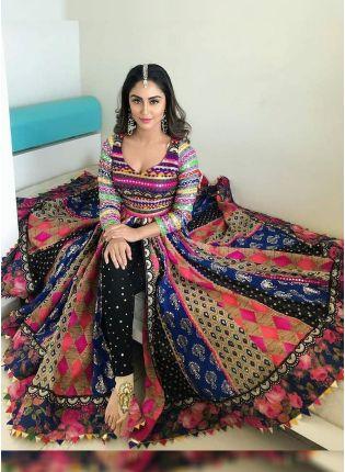 Purchase Multi Color Party Wear Banglori Silk Base Digital Printed Salwar Suit