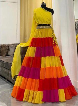 Multi-Colored Party Wear Fancy Lehenga Choli