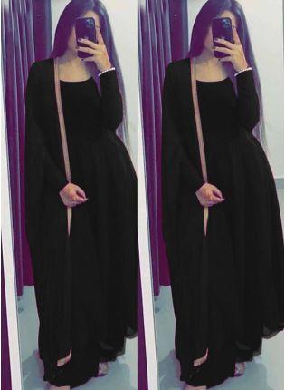 Impressive Black Georgette Base Festive Wear  Salwar Suit