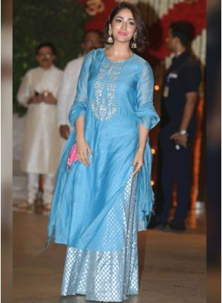 Bollywood Style Bile Color Palazzo Salwar Suit