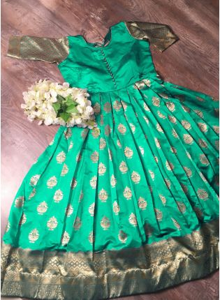 display of Green Designer Gown Premium Collection