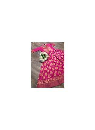 Shop Sparkling Pink Base Ceremonial Wear Designer Gown