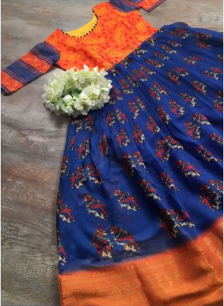 Traditional and Florid Ceremonial Designer Gown