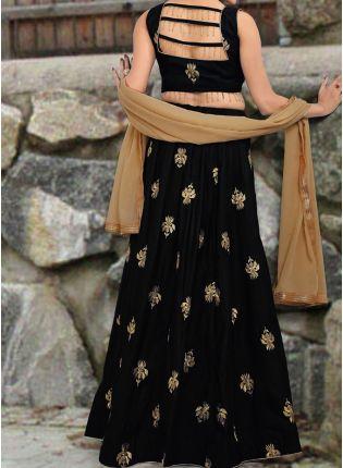 Iconic Amazing Black Color Designer Wedding Wear Lehenga Choli