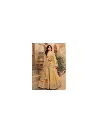 Fascinating Yellow Color With Floor Length Suit Salwar Kameez