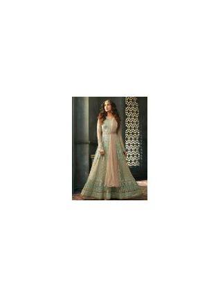 Attractive Blue Color Embellished Designer Gown