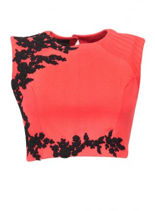 Top Pink Designer Embroidered Stitched Blouse