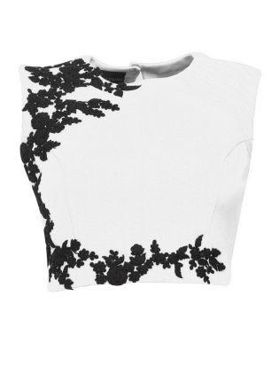 Splendid White Designer Embroidered Stitched Blouse