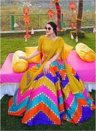 Adorable Multi-Color Silk Base Lehenga Choli
