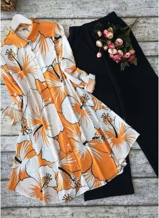 Buy Designer Mustard Yellow Printed Crepe Silk Base Pant Style Suit