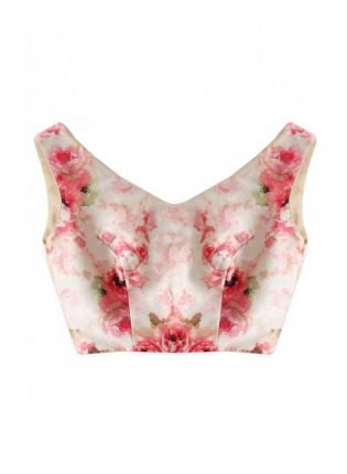 Trendy White Color Digital Floral Printed Blouse