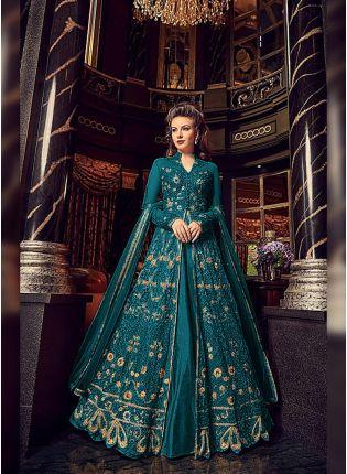 Affordable Wonderful Soft Net Base Slit Cut Designer Embroidered Anarkali Suit