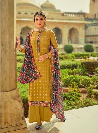 Appealing Yellow Color With Heavy Embroidered Salwar Kameez