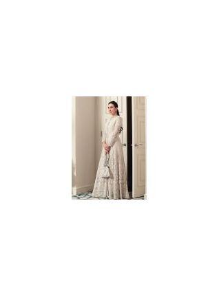 Top Elegant White Resham Georgette Designer Gown for Weddings