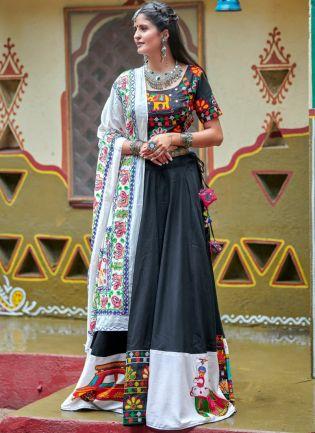 Traditional Black Color Designer Navratri Special Lehenga Choli
