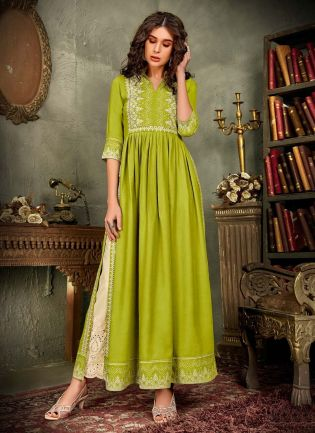 Cotton Base Light Green Color Printed Lucknowi Palazzo Salwar Suit