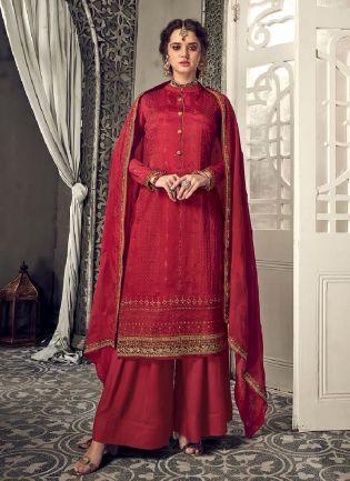 Terrific Maroon color With Heavy Embroidery Work Salwar Kameez