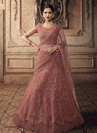 Fantastic Pink Color With Soft Net Base Lehenga Choli