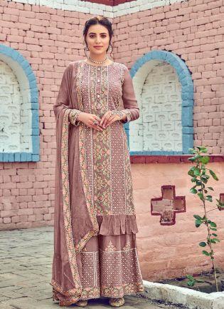 Good-Looking Purple Color With Heavy Embroidery Work Salwar Kameez