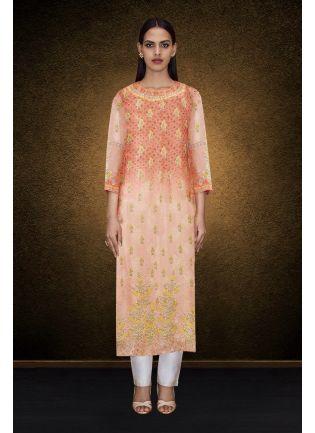 Elegant Printed Detailed Kurta