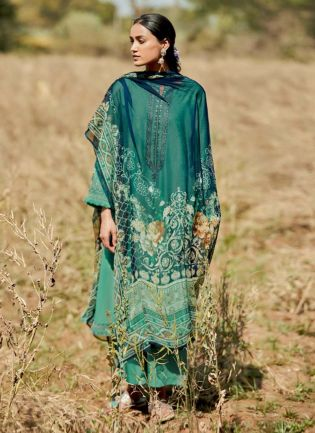 Turquoise Color Art Silk Base Pakistani Style Palazzo Suit With Different Dupatta