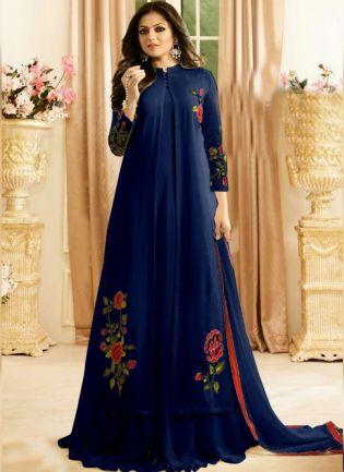 Royal Blue Color Designer Patry Wear Salwar Kameez Suit