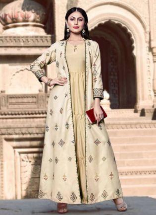 Trending Designer Beige Color Western Wear Kuti
