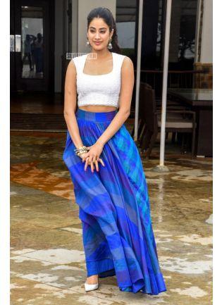 Gorgeous Blue Tafetta Silk And Digital Printed Lehenge Choli