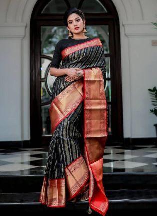 Fascinating Black Color Based on Banarasi saree