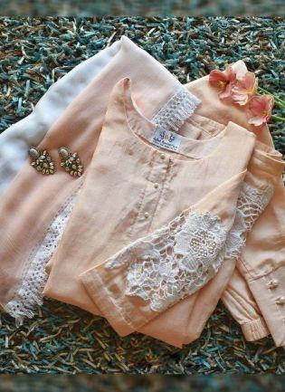 Elegant Baby Pink Color Party Wear Cotton Silk Base Salwar Kameez Suit