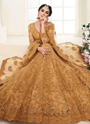 Decent Brown Color Lehenga With Resham Dori Work