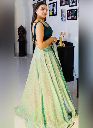 Admirable Green Color Georgette Base Lehenga Choli