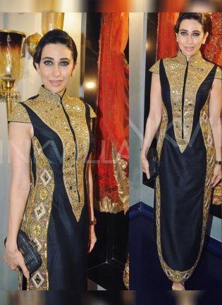 Black Color Party Wear Designer Raw Silk Base Salwar Kameez